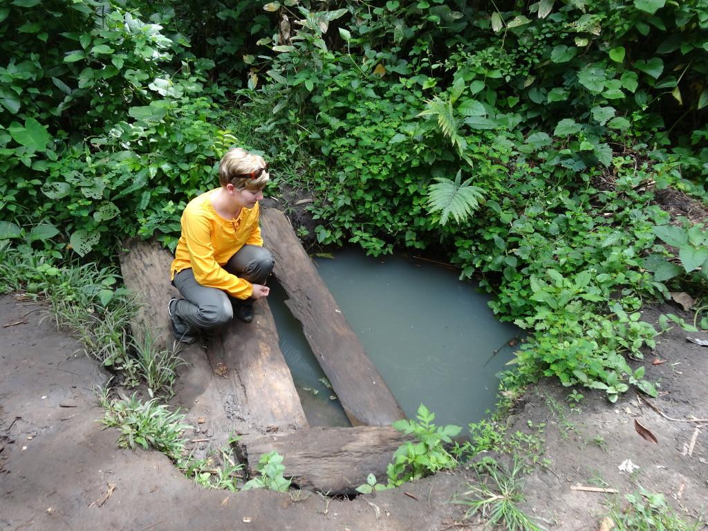 Das ist die alte Wasserstelle in der Gemeinde Kawanda